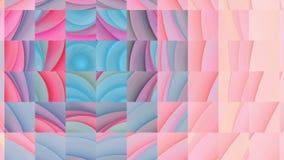 抽象分数维变体打破箱子的几何马赛克 股票录像