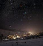 抽象分数维图象晚上冬天 免版税库存照片