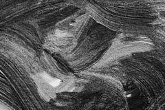 抽象刷子冲程和飞溅油漆在白皮书 wat 图库摄影
