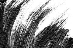 抽象刷子冲程和飞溅油漆在白皮书 wat 库存图片