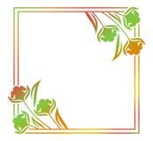 抽象剪影花卉框架 免版税图库摄影