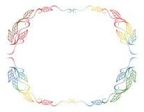 抽象剪影花卉框架 库存图片