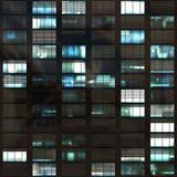 抽象办公室摩天大楼视窗 库存照片