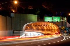 抽象加利福尼亚monica ・圣诞老人隧道 免版税库存图片