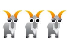 抽象动画片山羊例证 免版税库存照片