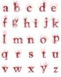 抽象动脉字体 免版税库存照片