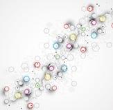 抽象化学式技术企业背景 向量例证