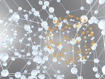 抽象化学设计 免版税库存图片