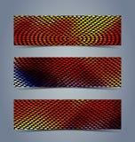 抽象半音横幅集合 向量例证