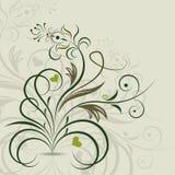 抽象华丽花卉设计 免版税库存图片