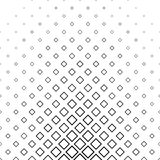 抽象单色线正方形样式 免版税库存照片