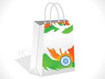 抽象印地安购物袋 免版税图库摄影