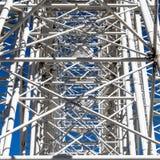 抽象印象由于混淆的支持、高视阔步和板条在弗累斯大转轮的登上 免版税库存图片