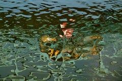 抽象反射在水中 免版税库存照片
