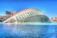 抽象反射, Hemisferic在艺术和科学,巴伦西亚城市 免版税图库摄影
