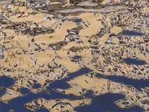 抽象反映水 免版税库存图片