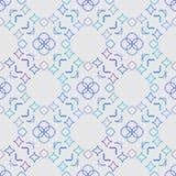 抽象反映的无缝的几何样式 皇族释放例证