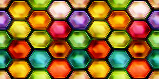 抽象发光的五颜六色的第2个例证无缝的纹理  库存照片