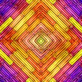 抽象发光的五颜六色的3D例证无缝的纹理  库存照片