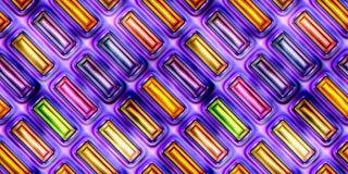 抽象发光的五颜六色的3D例证无缝的纹理  免版税库存照片
