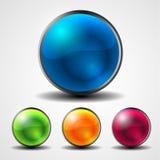 抽象发光的圈子按钮 库存图片
