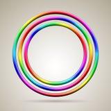 抽象发光的彩虹色的传染媒介圆环 免版税库存照片