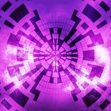 抽象发光的桃红色紫罗兰色数字式 免版税库存图片