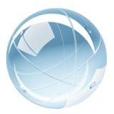 抽象发光的球形玻璃回报 免版税库存图片