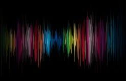 抽象发光的音乐向量 库存照片
