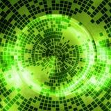 抽象发光的绿色数字球形 免版税图库摄影