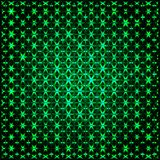 抽象发光的绿色3D分数维 图库摄影
