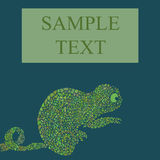 抽象变色蜥蜴传染媒介例证 免版税库存图片