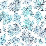 抽象叶的水彩绘画 库存例证