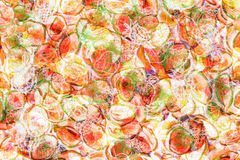抽象各种各样的果子背景 免版税库存图片