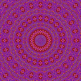 抽象同心圆装饰品purpole紫罗兰色红色黄色 免版税库存图片