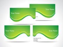 抽象名片绿色 免版税库存照片
