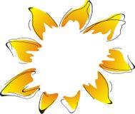 抽象向日葵 库存照片