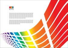 抽象呈虹彩模板 免版税库存照片