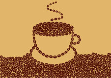 抽象咖啡 免版税库存照片
