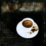 抽象咖啡 皇族释放例证