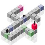 抽象商业客户组发生的小组工作 向量例证
