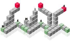 抽象商业客户组小组工作 向量例证