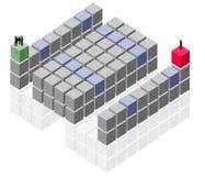 抽象商业客户组小组工作 库存例证