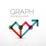 抽象商标想法、线性图或者图表企业象 创造性的略写法设计模板 皇族释放例证