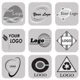 抽象商标设计商标兆汇集摘要 免版税库存照片