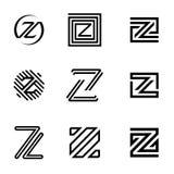 抽象商标设计的信件Z例证 免版税库存照片