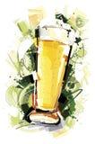 抽象啤酒 库存照片