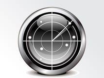 抽象图标雷达 免版税图库摄影