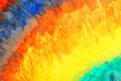 抽象图画彩虹水彩 库存照片