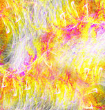 抽象图象混乱黄色 皇族释放例证